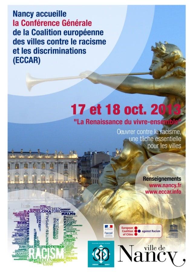 2  Conférence Générale de la Coalition européenne des villes contre le racisme et les discriminations (ECCAR)