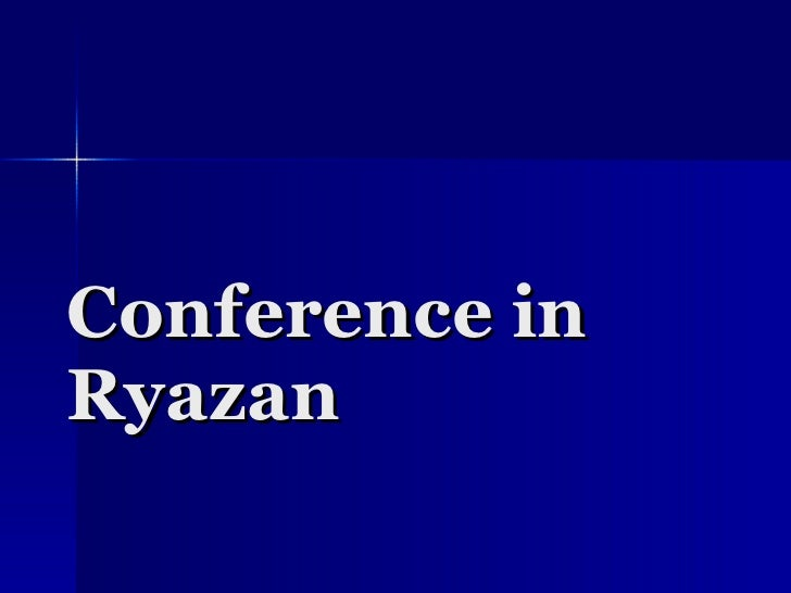Conference In Ryazan