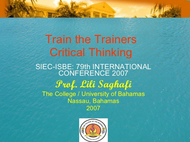 Conference Presenation Train Trainers SIEC Vienna Professor Lili Saghafi