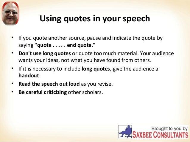 Presentation Ending Quotes