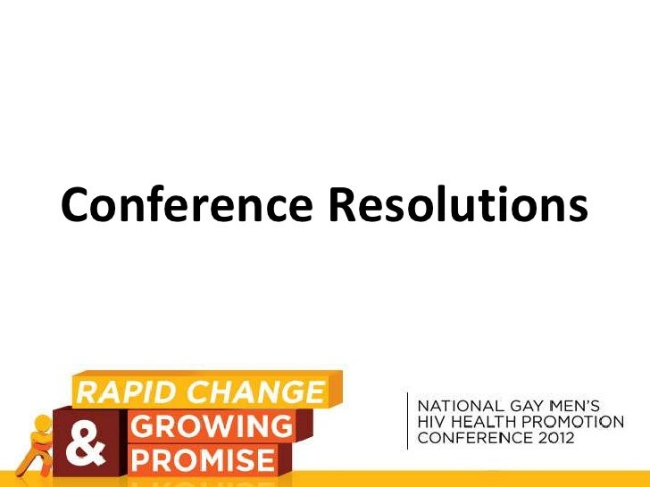 Conference Resolutions