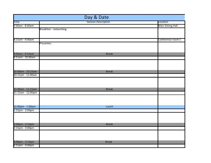 Conference Room Scheduling Template Idealstalist