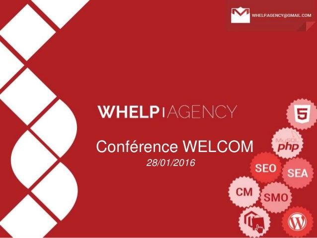 Conférence WELCOM 28/01/2016