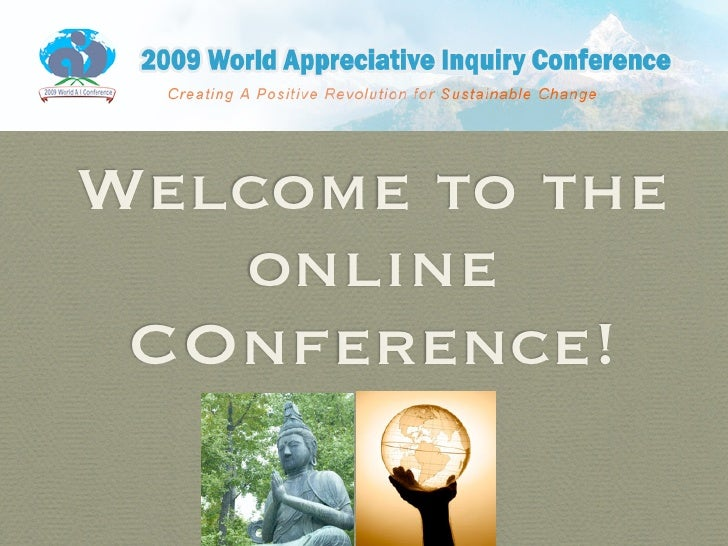 Welcome to the    online  COnference!