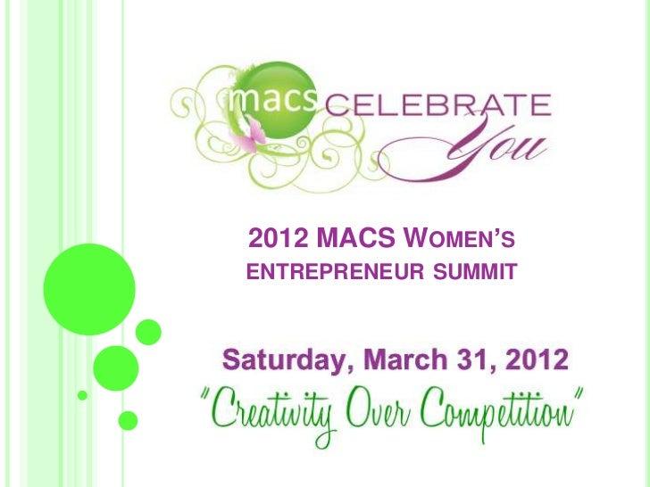 MACs Women Summit Speakers