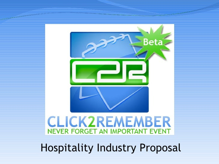 Hospitality Industry Proposal