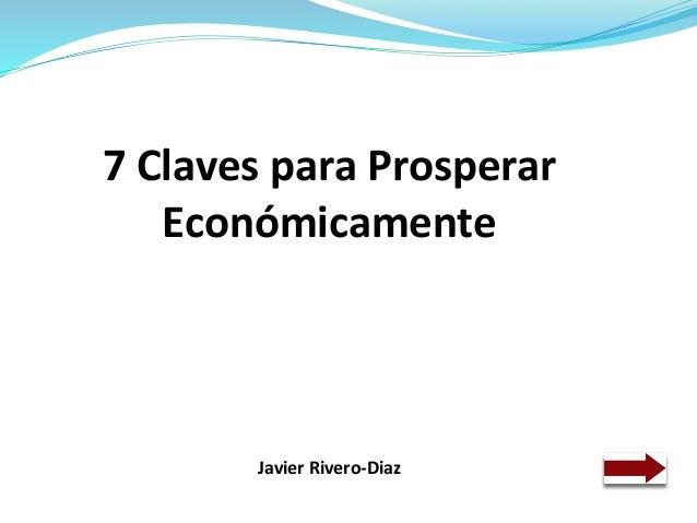 7 claves para prosperar económicamente