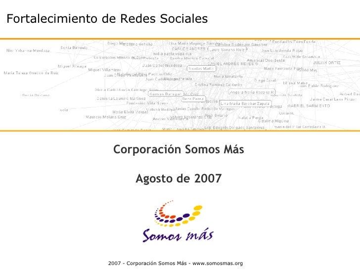 """Conferencia """"Fortalecimiento y Articulación  de Redes Sociales"""""""