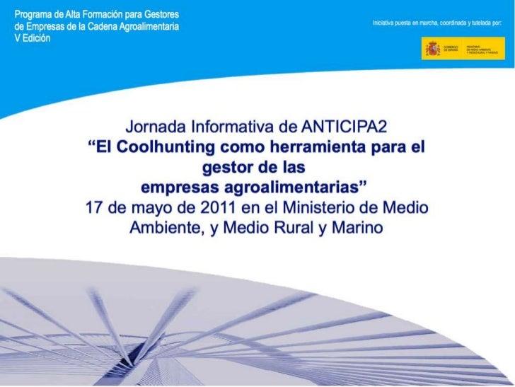 Objetivos de la Jornada:                Identificar las tendencias del sector de la                  agroalimentación.   ...