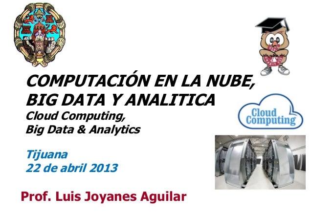 Computación en la Nube, Big Data y Analitica