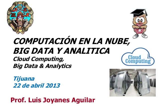 Computación en la Nube, Big Data y Analitica