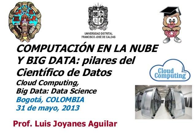 11Prof. Luis Joyanes AguilarCOMPUTACIÓN EN LA NUBEY BIG DATA: pilares delCientífico de DatosCloud Computing,Big Data: Data...