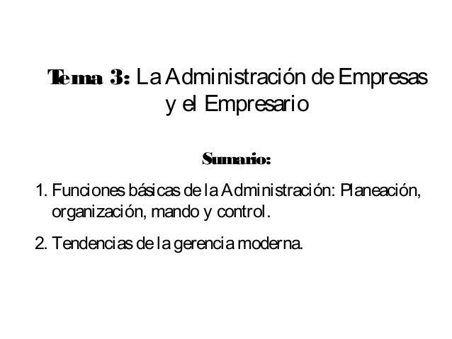 Conferencia 3 la administración de empresas y el empresario