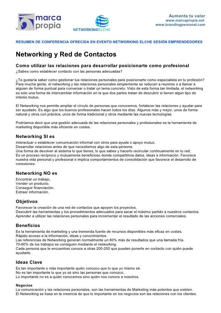 Conferencia Andres Pérez Networking Elche