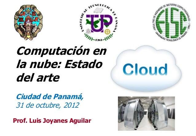 Computación en la nube: Estado de arte (Octubre 2012)