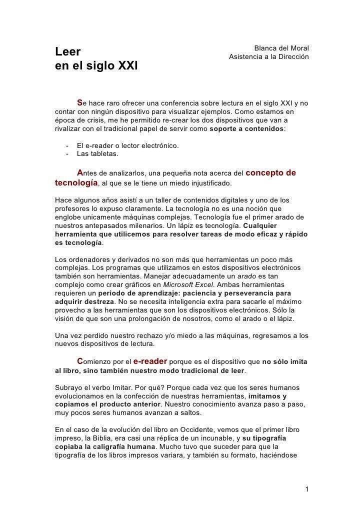 Blanca del MoralLeer                                                  Asistencia a la Direcciónen el siglo XXI        Se h...