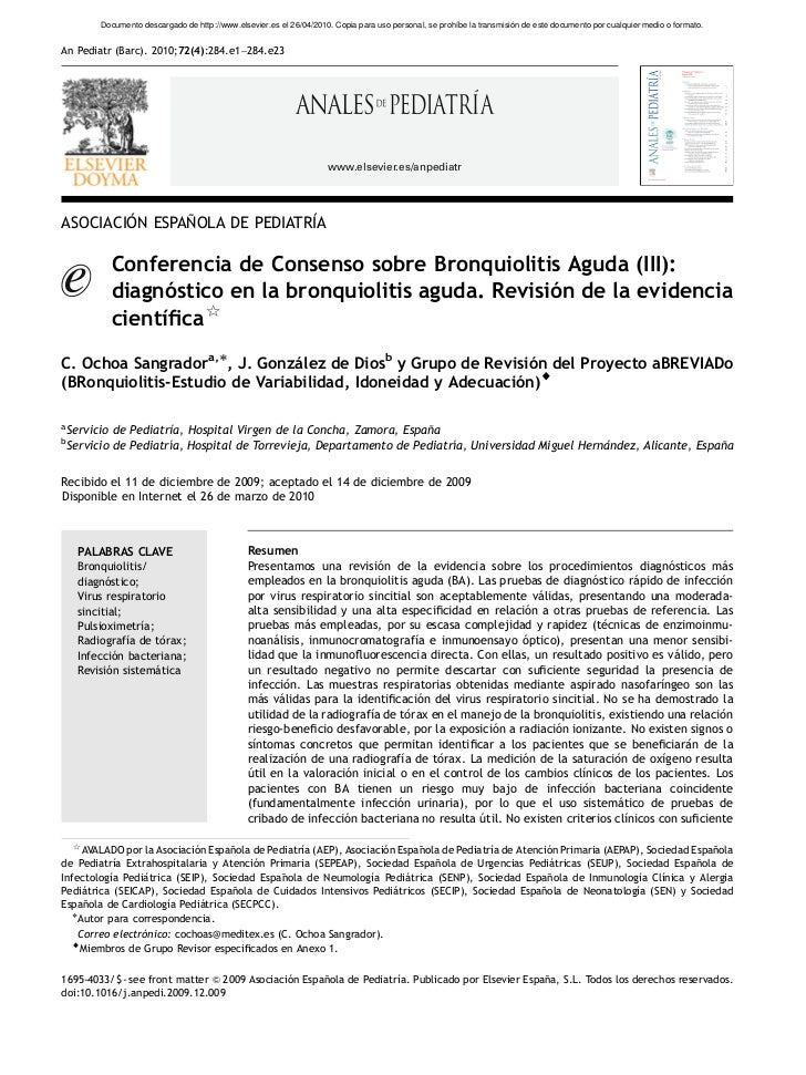ARTICLE IN PRESS          Documento descargado de http://www.elsevier.es el 26/04/2010. Copia para uso personal, se prohíb...