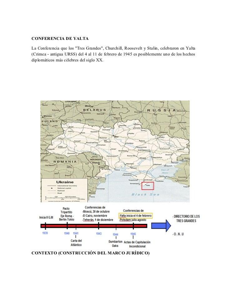 """CONFERENCIA DE YALTA  La Conferencia que los """"Tres Grandes"""", Churchill, Roosevelt y Stalin, celebraron en Yalta (Crimea - ..."""