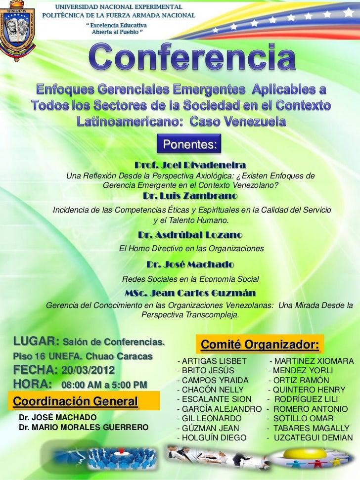 Conferencia enfoques gerenciales emergentes