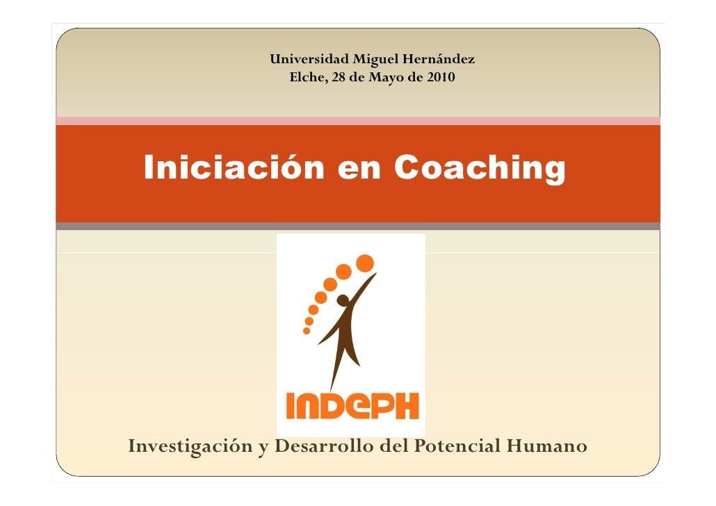 Conferencia iniciación en coaching umh