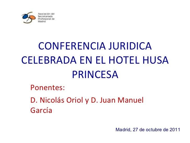 Conferencia - Reportaje Fotográfico