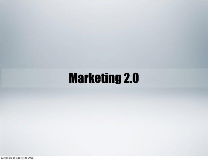 Conferencia Marketing 2.0 Slideshare