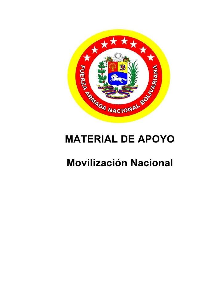 MATERIAL DE APOYO  Movilización Nacional