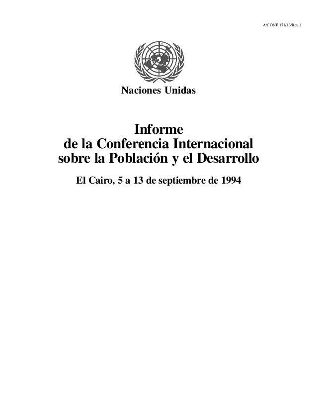A/CONF.171/13/Rev.1             Naciones Unidas            Informe de la Conferencia Internacionalsobre la Población y el ...