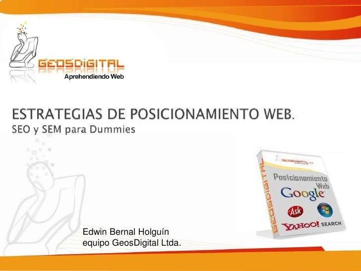Conferencia Posicionamiento Web Para Dummies