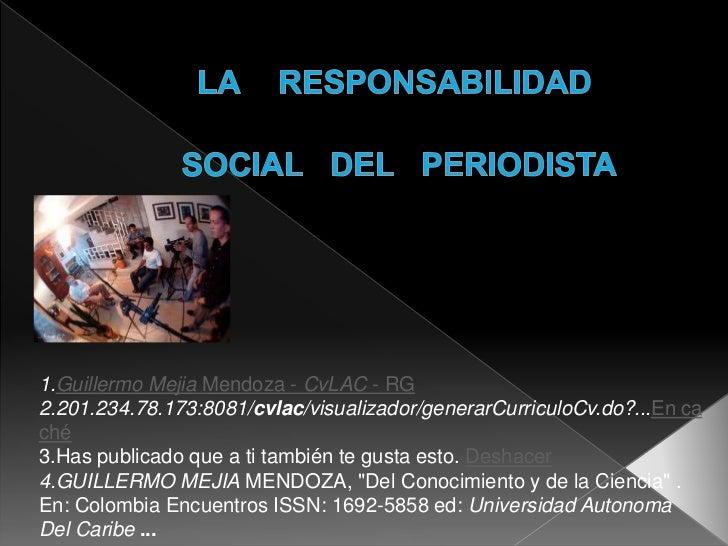 Conferencia responsabilidad social del periodista