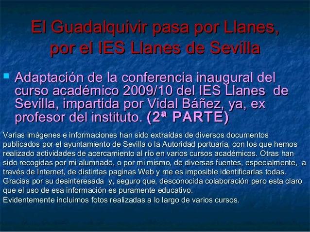 El Guadalquivir pasa por Llanes,El Guadalquivir pasa por Llanes, por el IES Llanes de Sevillapor el IES Llanes de Sevilla ...