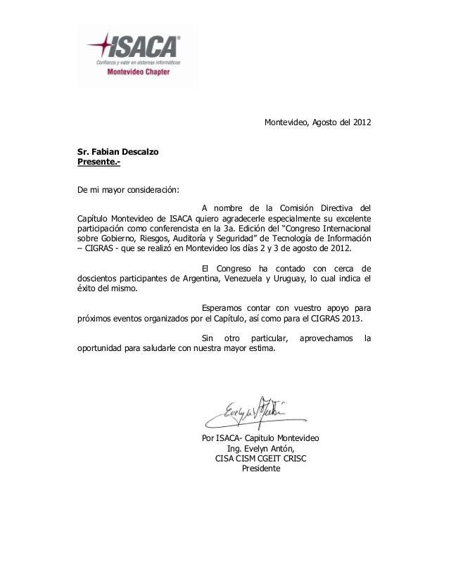 Montevideo, Agosto del 2012Sr. Fabian DescalzoPresente.-De mi mayor consideración:                                 A nombr...