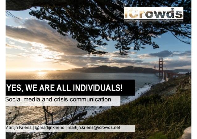 Conferentie crisiscommunicatie keynote