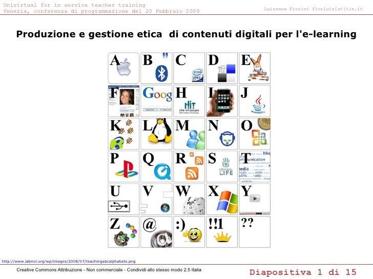 Produzione e gestione etica di contenuti digitali per l'e-learning