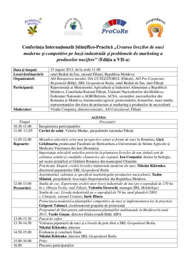 Conferinţa Internaţională Ştiinţifico-Practică  la Rediul de Sus (Editia a VII-a)