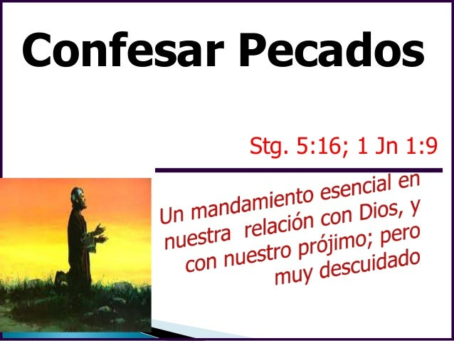 Confesión de pecados