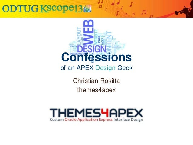 Confessions of an APEX Design Geek Christian Rokitta themes4apex