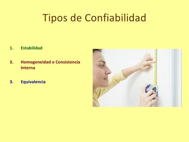 Confiabilidad for Tipos de tresillos