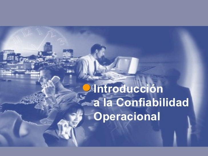 Confiabilidad Operacional