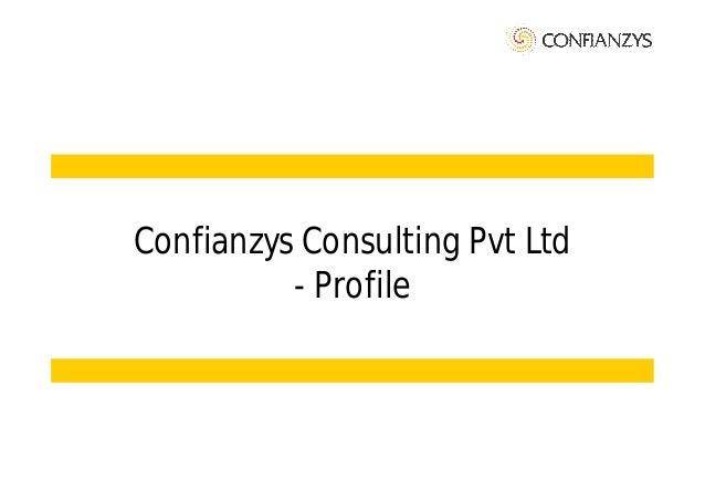 Confianzys Consulting - Profile