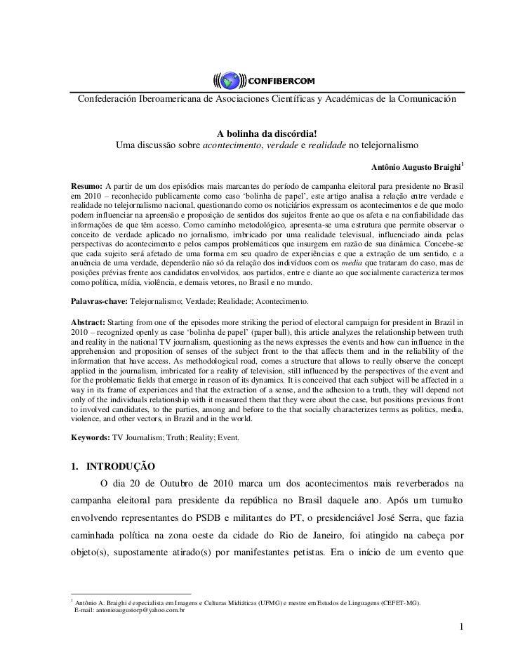 Confederación Iberoamericana de Asociaciones Científicas y Académicas de la Comunicación                                  ...