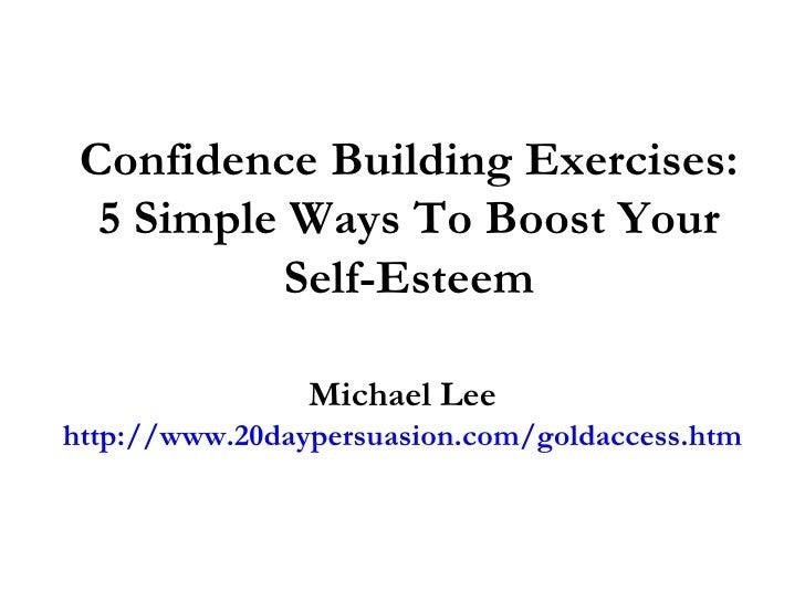 ways to build self esteem essay