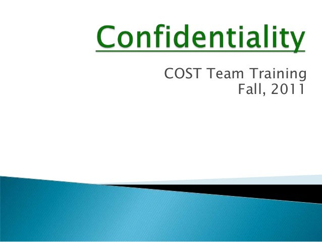 COST Team Training        Fall, 2011