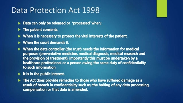 What is the meaning of confidentiality as contained in principles of the Data Protection Act 1998?
