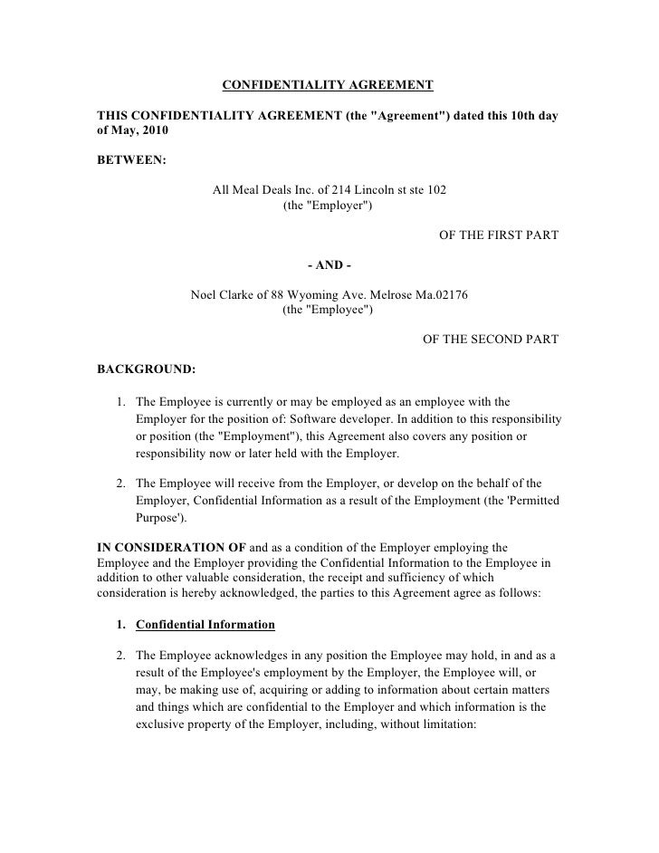 """CONFIDENTIALITY AGREEMENT  THIS CONFIDENTIALITY AGREEMENT (the """"Agreement"""") dated this 10th day of May, 2010  BETWEEN:    ..."""