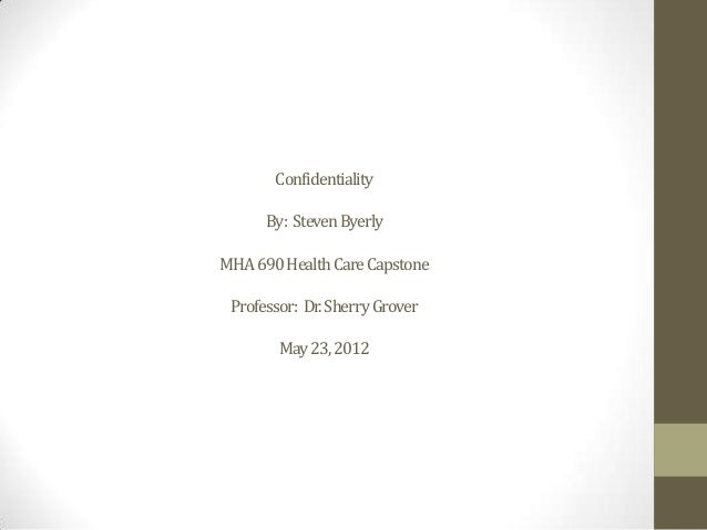 Confidentiality powerpoint