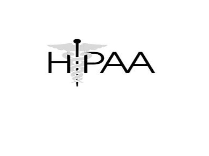 Health Information PrivacyHIPAA Privacy Rule protects the privacy ofindividually identifiable health information; theHIPAA...