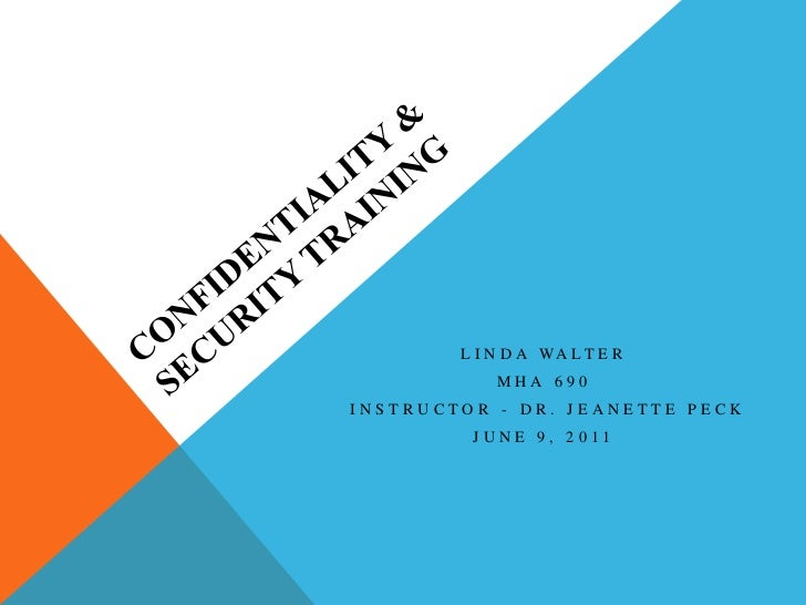 Confidentiality Training