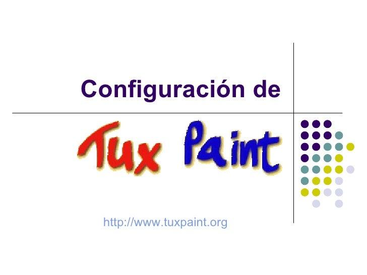 Configuración de http://www.tuxpaint.org