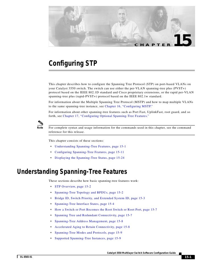 C H A P T E R                     15                     Configuring STP                      This chapter describes how t...